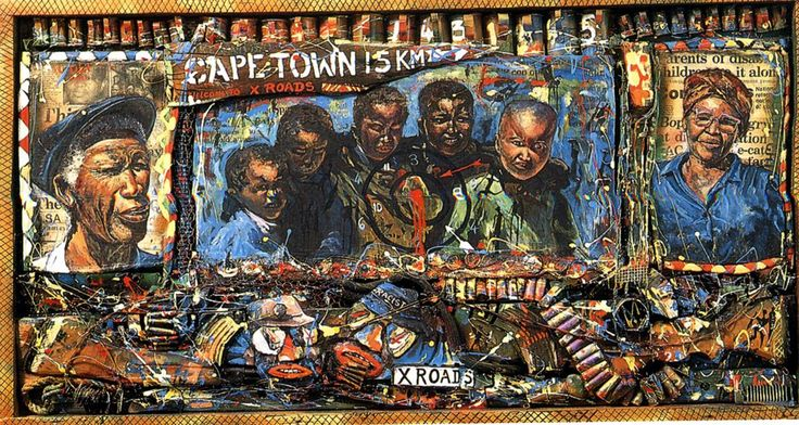 Willie Bester, X-ROAD, 1994