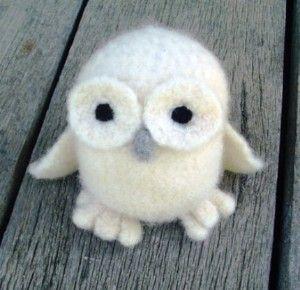 Felted Crochet Owl