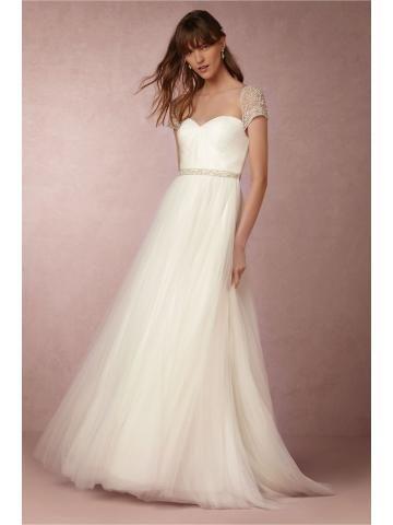 elegante tule bruids trouwjurken