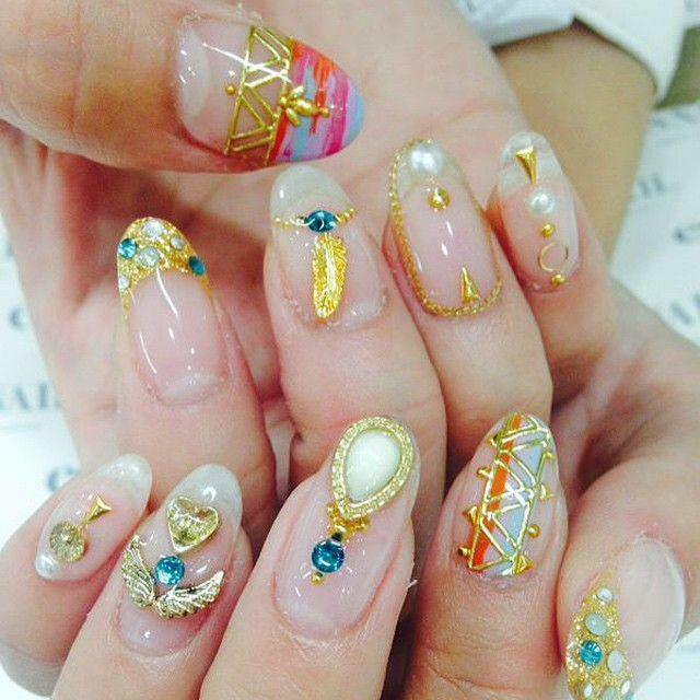 #nail#nails#nailart#naildesign#esnail#gelnail#nailgram#nailsalon#esnails#notd#ネイルサロン#ネイル#エスネイル#ジェルネイル#네일#美甲@esnail_la#clearnails#summernails#newcharm#bijou#feathernails#swarovski#studnails#クリアネイル