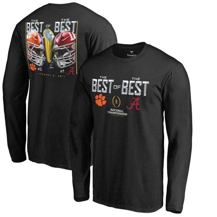 #Valentines #AdoreWe #Fanatics.com - #Fanatics Branded Clemson Tigers vs. Alabama Crimson Tide Fanatics Branded College Football Playoff 2017 National Championship Dueling Matchup Long Sleeve T-Shirt - Black - AdoreWe.com