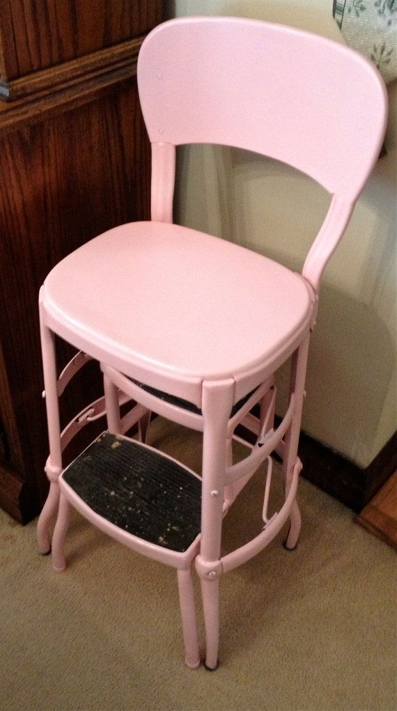 Vintage Pink Costco Stepstool Chair by VintageLove50 on Etsy, $50.00