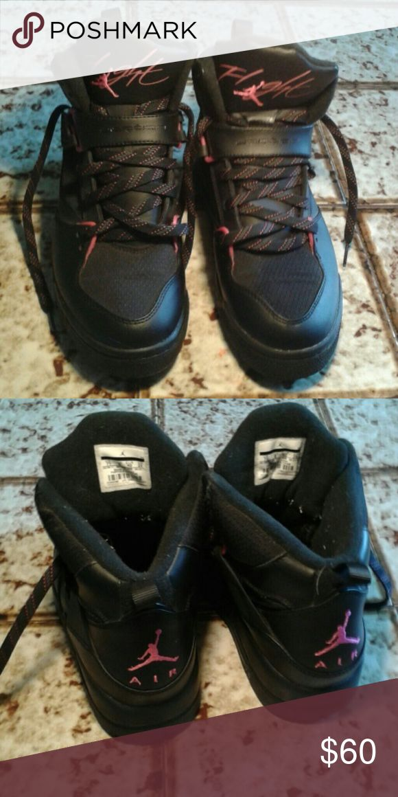 7y Jordan Flights Worn only once or twice. Like new laces and buckles. Very clean. Jordan Flight Shoes Athletic Shoes