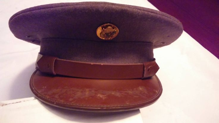 Vintage Antique WWII US Army Military Enlisted Dress Uniform Cap Hat by ResoledResold on Etsy