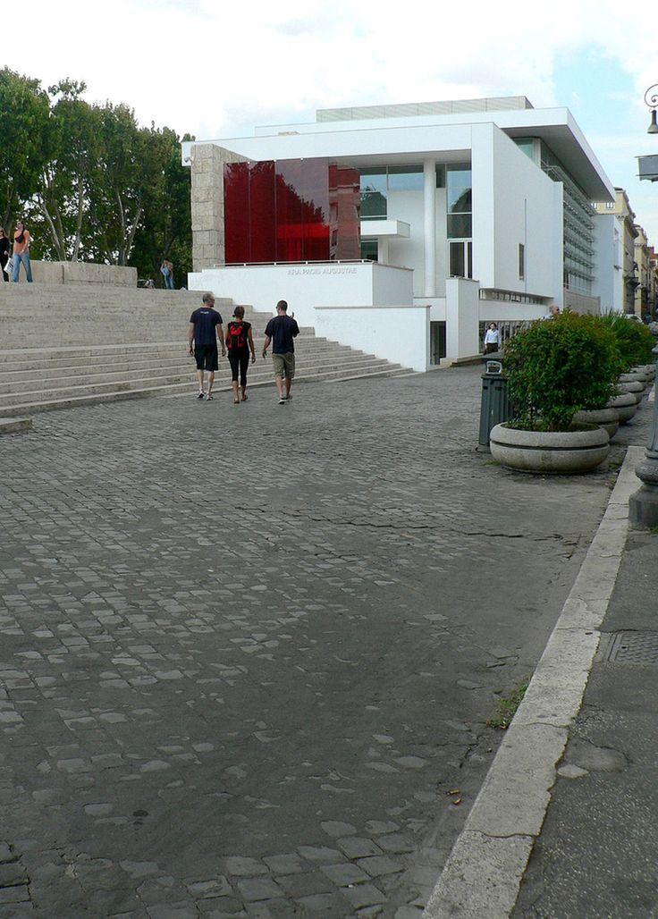 Ara Pacis Museum, Rome, Richard Meier, with Valentino Exhibit Red Box