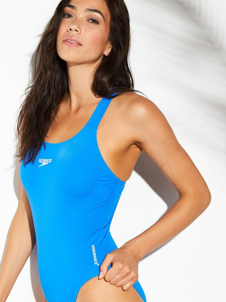 Speedo Endurance+ Medalist Swimsuit Blue, Blue, Size 30