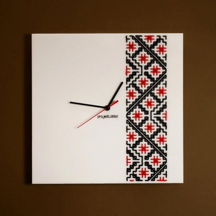 Clocks designed by project.ZULU, inspired from the traditional embroidery from Bucovina - Romania