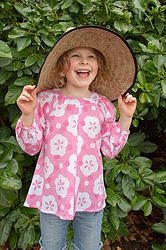 Love that smile:) Parasol Pink top great for covering up in the sun and helping to protect precious skin. Cool, comfortable, lightweight cotton girls top sizes 1-12 years. Designed in Australia, soft, high quality fabric made exclusively for Three Sun Possums