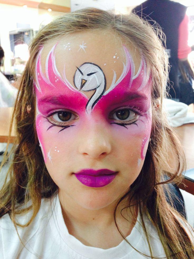 Maquillaje infantil cisne