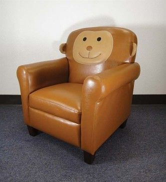 Acme Furniture   Zuni Monkey PVC Youth Chair   59095 Traditional Kids Chairs