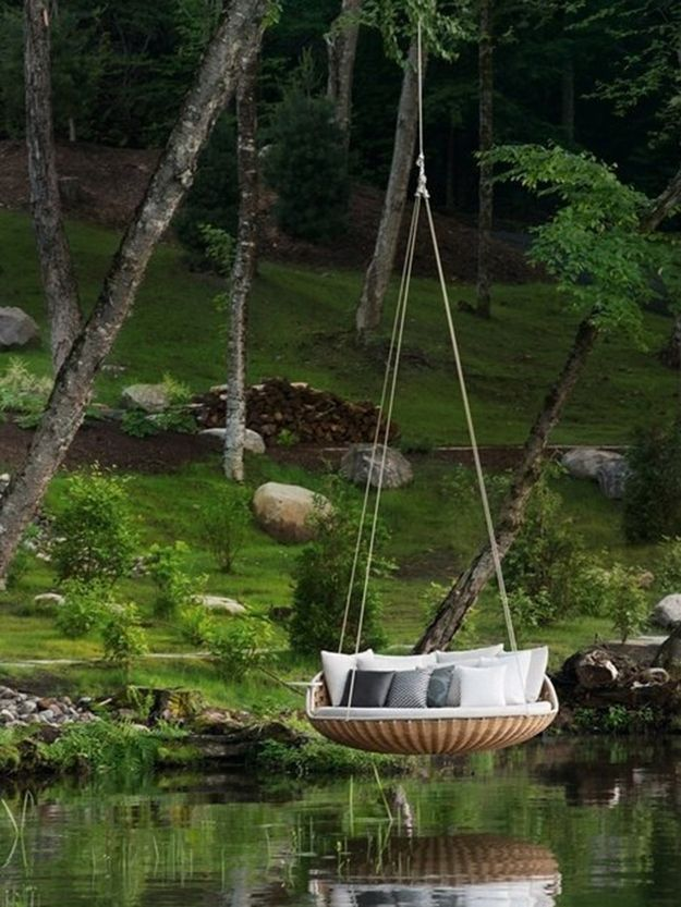In a hanging bed in the forest. | Community Post: 44 Amazing Places You Wish You Could Nap Right Now