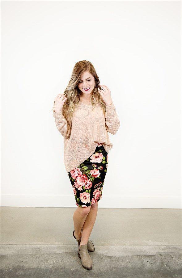 Floral Pencil Skirts   Regular & Plus!