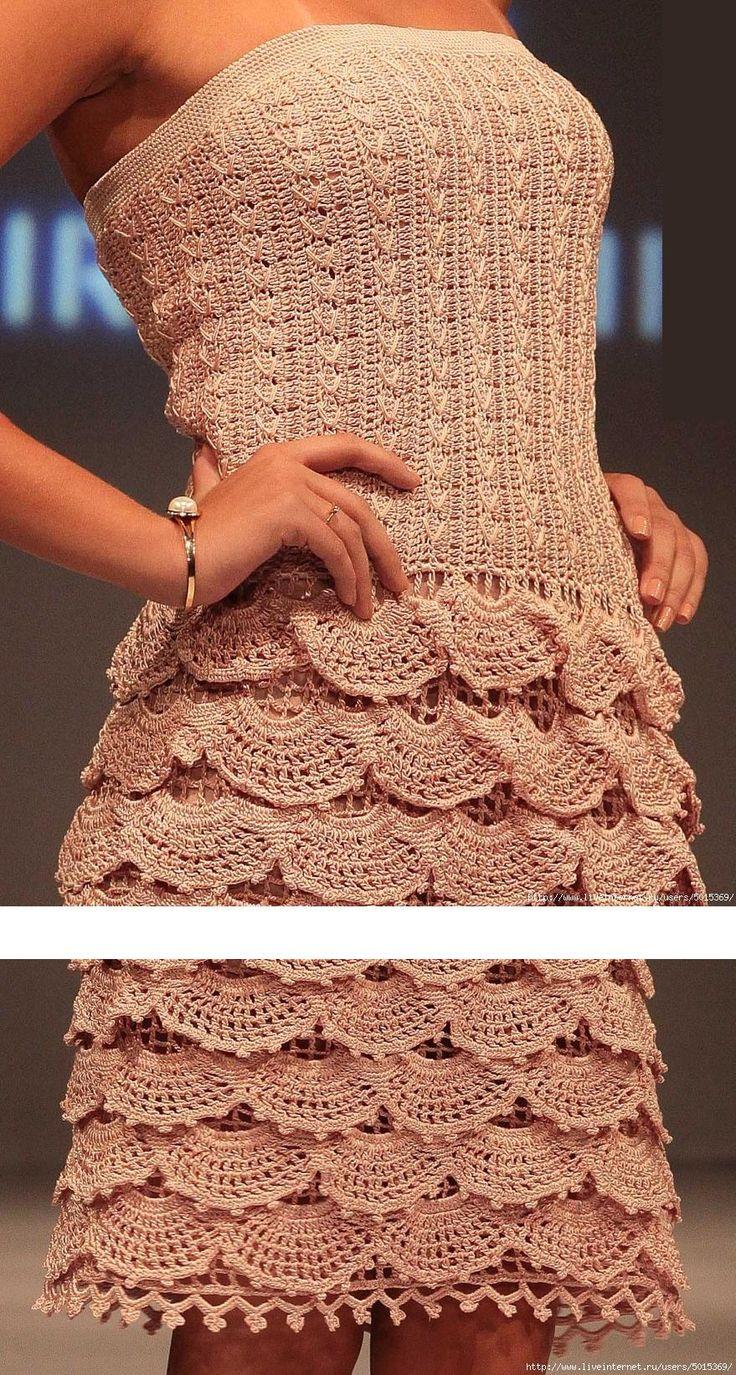 """Вяжем вместе платье """"Стелла"""" от Alzira Vieira"""