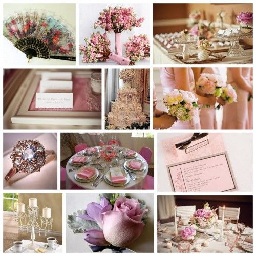 Victorian Wedding Inspiration http://www.weddingcolorthemes.com/top-wedding-colors-themes/