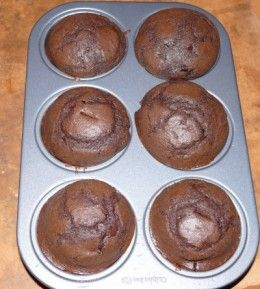 Chocolate cupcakes. Made these with organic flour, sugar, cocoa, butter and farm fresh eggs. They were moist and light and perfect with buttercream. Made these several times and they are ten times better than the boxed mixes.
