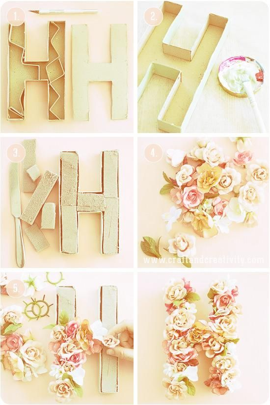 10 SUMMER DIY PROJECTS YOU MUST TRY  Tutorials  Cute DIY Crafts  Floral Letters …
