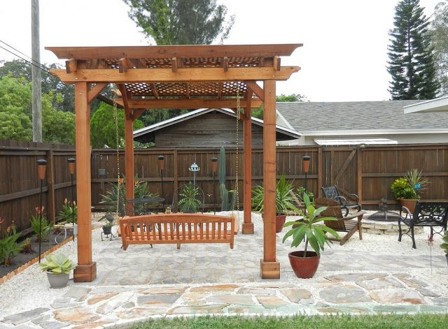 Inspiration Gallery From Simple Ideas Of Pergola Swing Plans