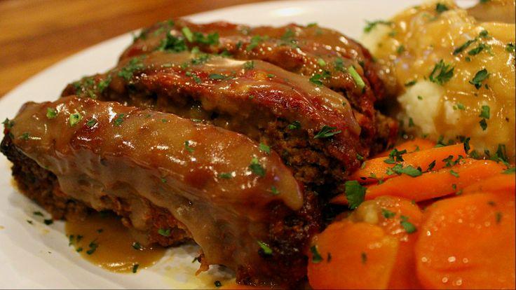 Homemade Meatloaf served with soup or salad, mashed potatoes, vegetable & gravy! Served as a special on Tuesdays. #villagetavern #carolstream #meatloaf #vtglife