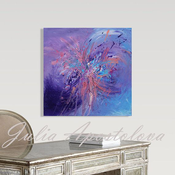 #Originalpainting #Abstract #Art #Puple #Blue #painting #Minimalist #MinimalArt #Acrylic #AbstractArt #Turquoise #LargeWallArt #PurpleHomeDecor #Artforsale #Etsy by JuliaApostolova