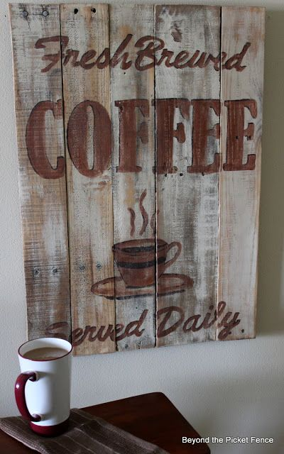 CONNIE WILLIAMS THOUGHT YOU MIGHT LIKE THIS FOR YOUR KITCHEN, U KNOW THE OUTDOOR ONE...... Sign made from pallets. I need this for my house.