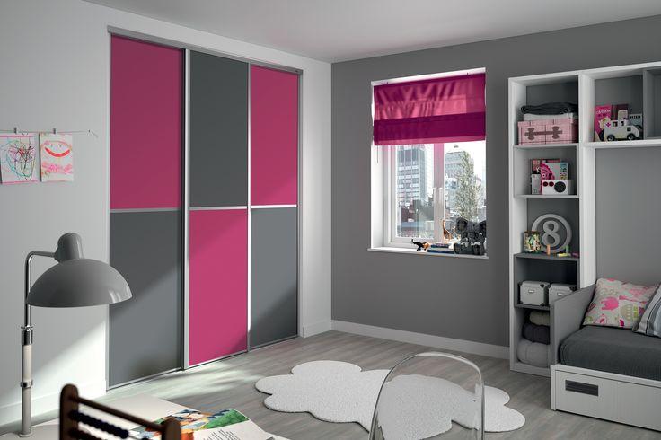 1000 ideas about porte de placard coulissante on - Chambre blanc et fushia ...