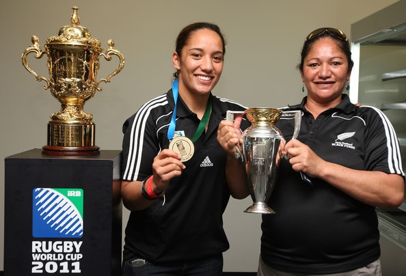 Karina Penetito with the women's and men's world cup. Awesome.