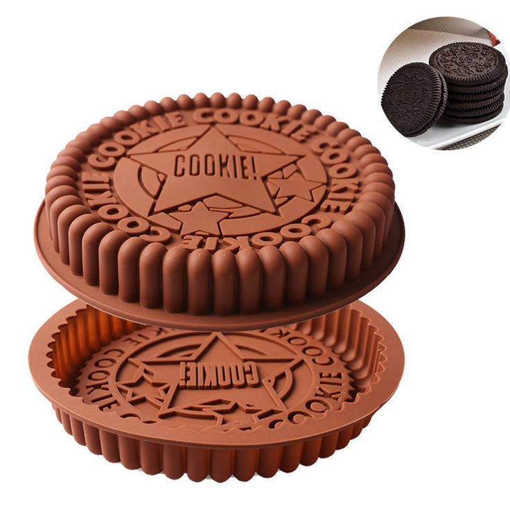 """9"""" Round Big Size Oreo Cookie Silicone Cake Mold Pan Pizza Tray Bakeware Tool #HOURONG"""