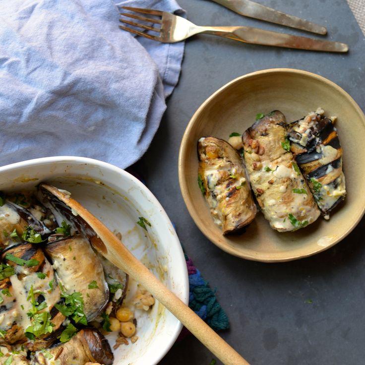 Middle Eastern Grilled Eggplant with Lemon Tahini Sauce — nourishing ...