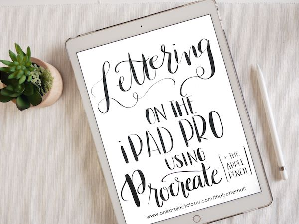 Can't wait to learn Hand Lettering with iPad Pro and Apple Pencil!!!