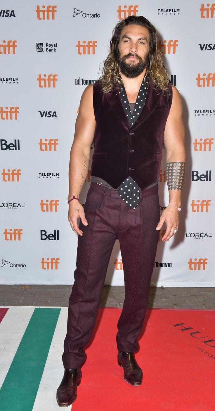TORONTO, ON - SEPTEMBER 13:  Actor Jason Momoa attends 'The Bad Batch' premiere during the 2016 Toronto International Film Festival at the Ryerson Theatre on September 13, 2016 in Toronto, Canada.  (Photo by Dominik Magdziak Photography/WireImage)