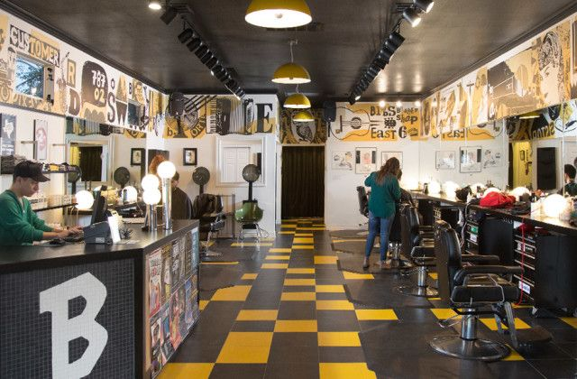 Nearest barber shop and haircut salon in the East 6th area. Birds is an award winning barbershop for men, women, and kids; providing hair cuts, hair colors, and beard trims.