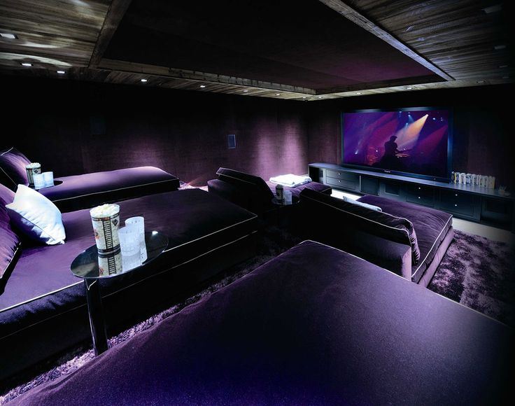 Movie Room, Chalet Brikell, Rhone-Alpes by Pure Concept...YUP, that's it, this will be our future movie room at the lake house...done!