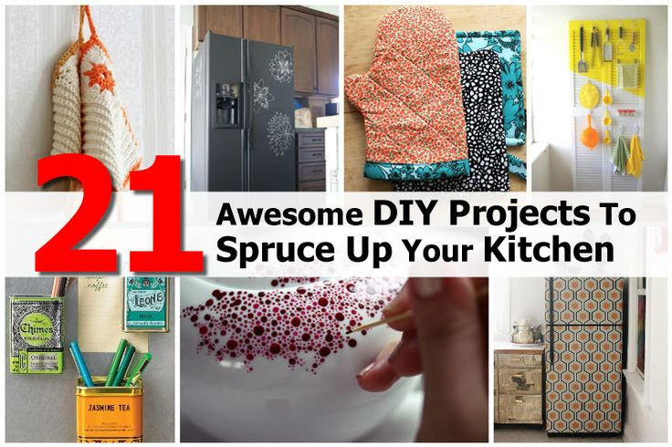 21 Awesome DIY Projects To Spruce Up YourKitchen - http://www.diyprojectsworld.com/21-awesome-diy-projects-to-spruce-up-your-kitchen.html