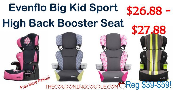 BEST PRICE EVER! Evenflo Big Kid Sport Booster Car Seat