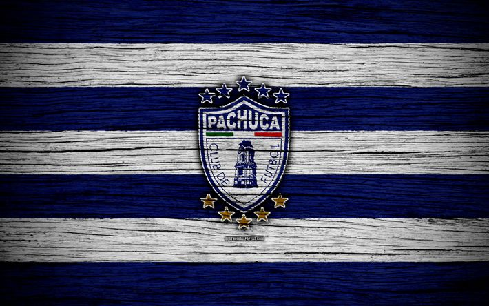 Download wallpapers Pachuca FC, 4k, Liga MX, football, Primera Division, soccer, Mexico, Pachuca, wooden texture, football club, FC Pachuca