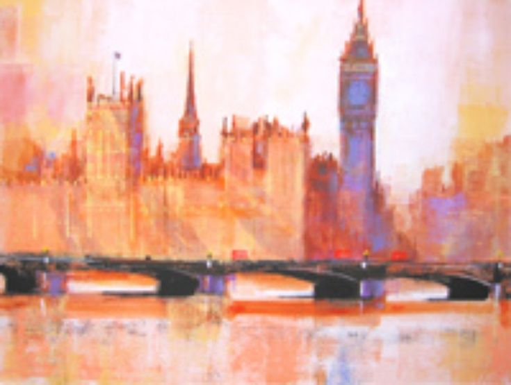 EVENING SHADOWS WESTMINSTER by Colin Ruffell