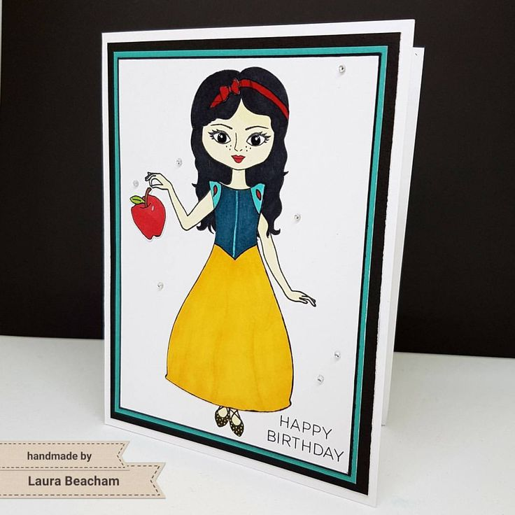 Snow White Card created with Close To My Heart Christmas Paper Doll Stamp + Thin Cuts
