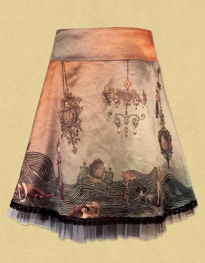 Inspiration - Michal Negrin: Baroque Genius of WHIMSY... ooooh I'd love to make something along these lines, an illustration skirt!