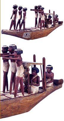 Modello di imbarcazione Primo Periodo Intermedio - Medio Regno, XI dinastia - inizi XII dinastia (2050-1947 ca. a.C.) Provenienza: Assiut, tomba di Shemes,