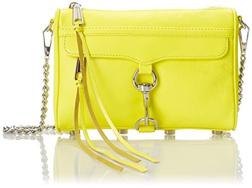Rebecca Minkoff Mini Mac Cross Body Bag, Electric Yellow, One Size