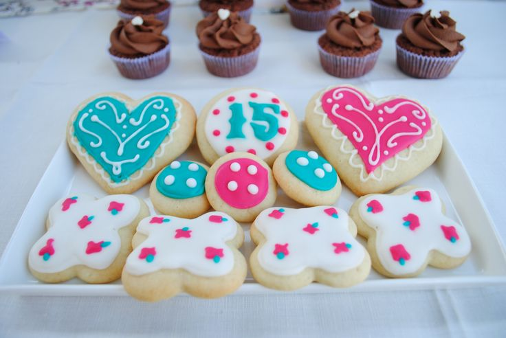 sweet 15th sugar cookies