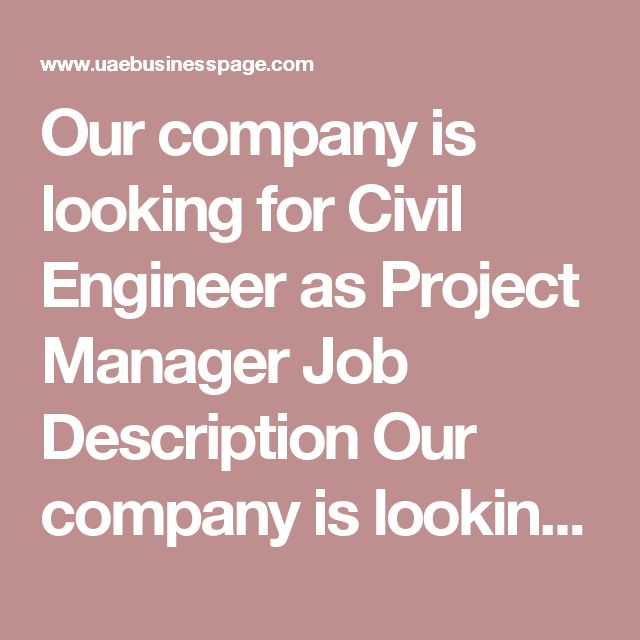 25+ ide terbaik Civil engineering companies di Pinterest - project manager job description