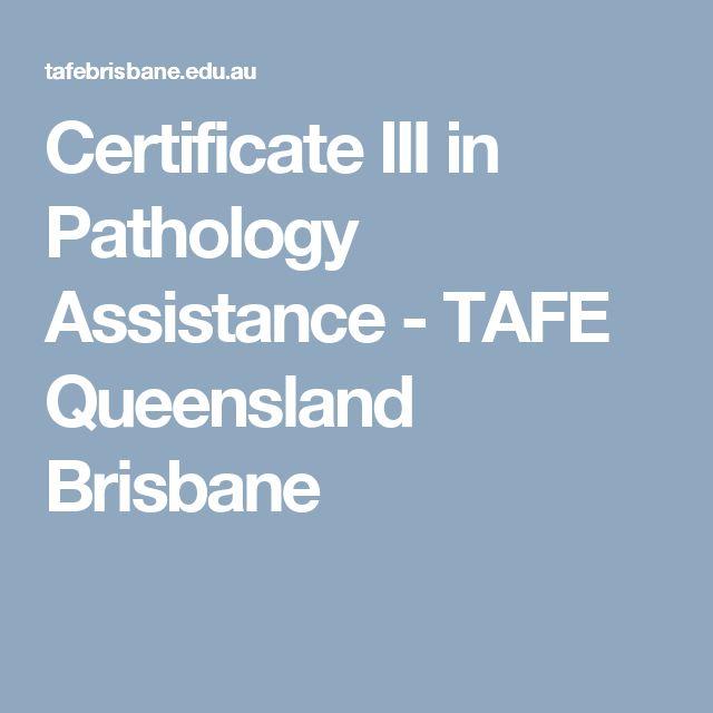 Certificate III in Pathology Assistance - TAFE Queensland Brisbane