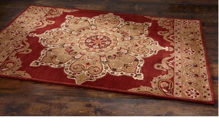 Star Medallion Wool Rug By Country Door.