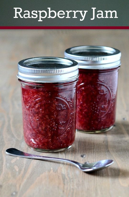 Homemade raspberry jam is one of life's simple pleasures. This recipe ...