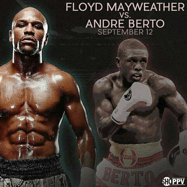 It's official. @floydmayweather to face @andreberto Sept. 12 on Showtime PPV. #Boxing