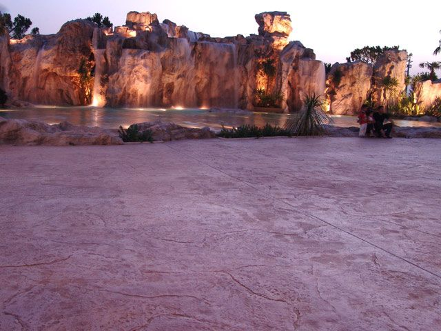 theme park Bari, Italy - #stamped #concrete floor http://www.idealwork.com/Stamped-concrete-Features-and-benefits.html