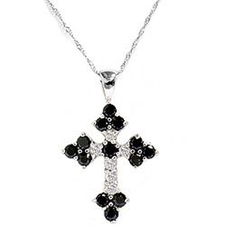 Black and white diamonds in a Gothic style cross. Religon meets FASHION.