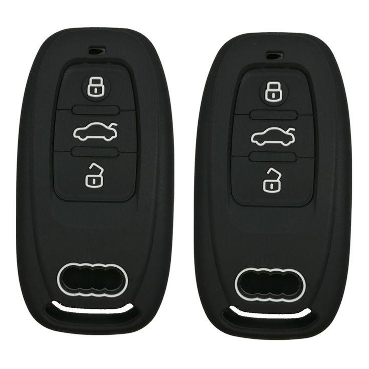 2pcs coolbestda rubber 3 buttons smart key fob remote