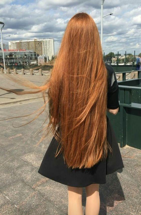 coiffure longue rousse